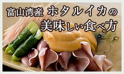富山湾産ホタルイカの美味しい食べ方